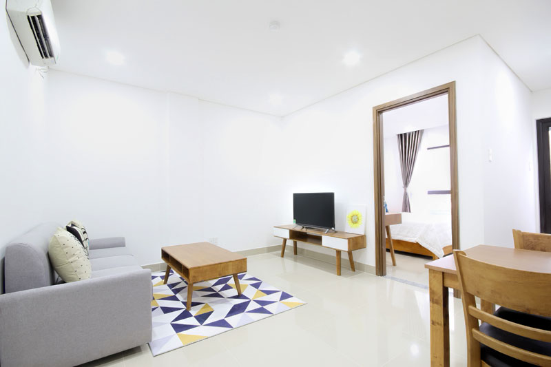 0304-0110 Serviced apartment for rent 1 bedroom fully furnished in District 2